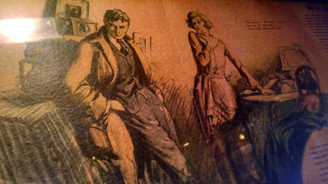 """""""The Gift of the Magi"""" illustration hanging in Pete's Tavern"""