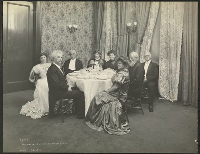 Delmonico's dinner for Mark Twain
