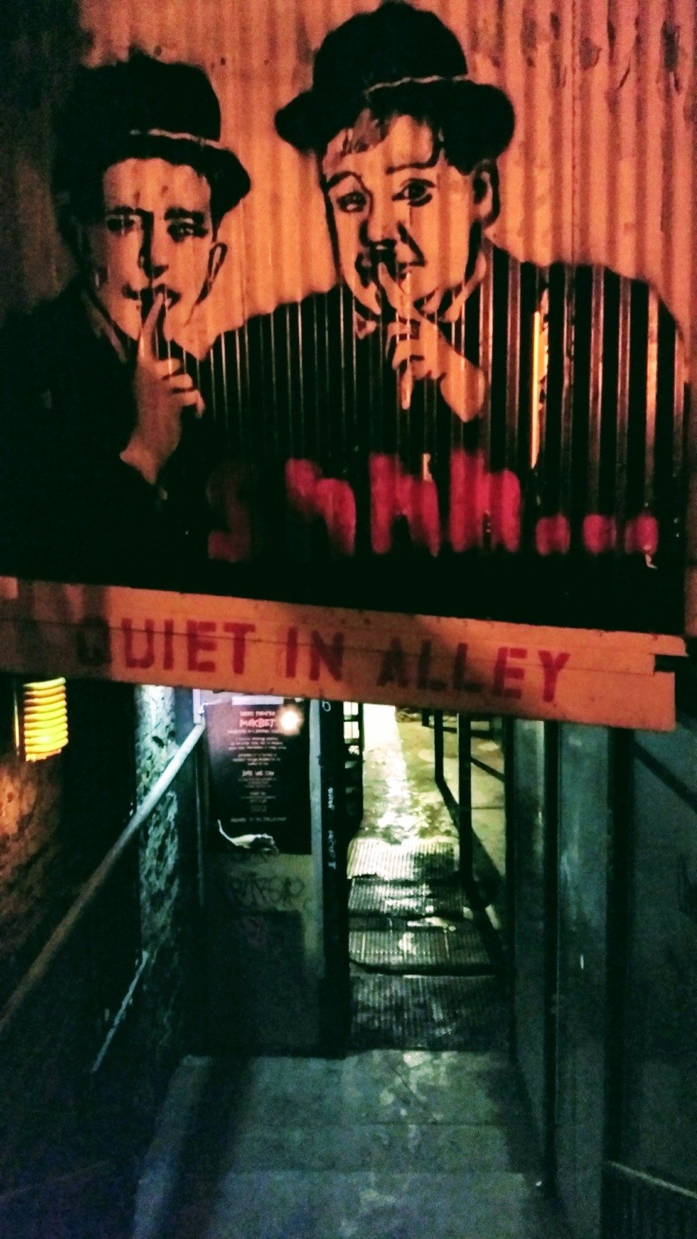 Alleyway entrance to the Back Room