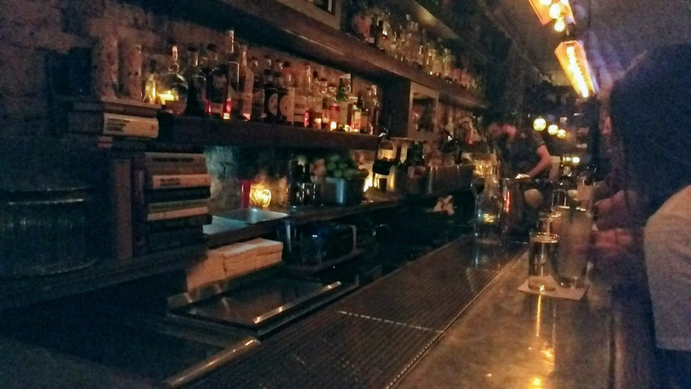 The bar at Attaboy