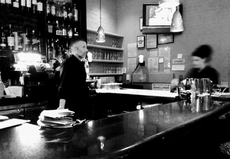 Bar Centrale in black-and-white