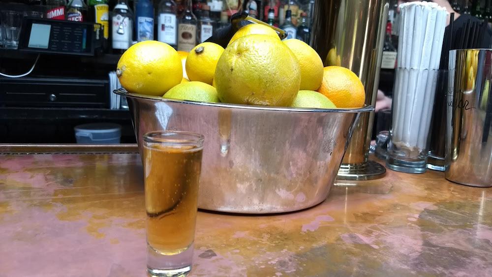 The Garret bar with lemons