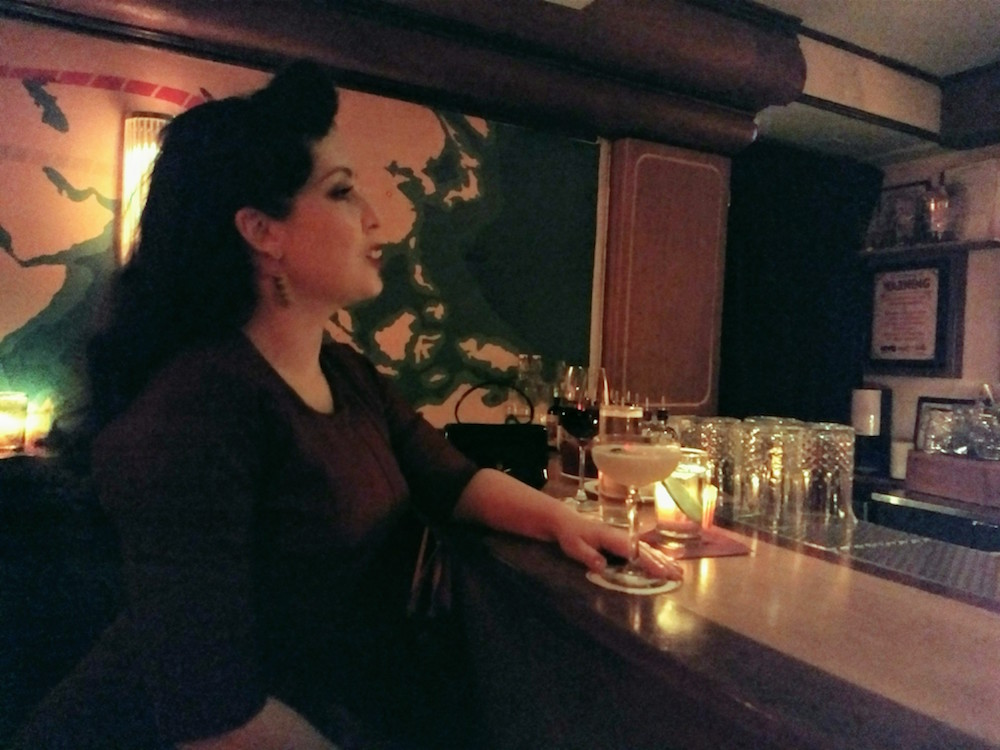 Natasha at the bar (Slowly Shirley)