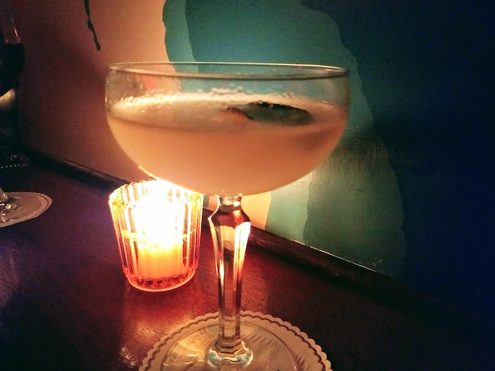 One of the movie-themed fancy cocktails at Slowly Shirley