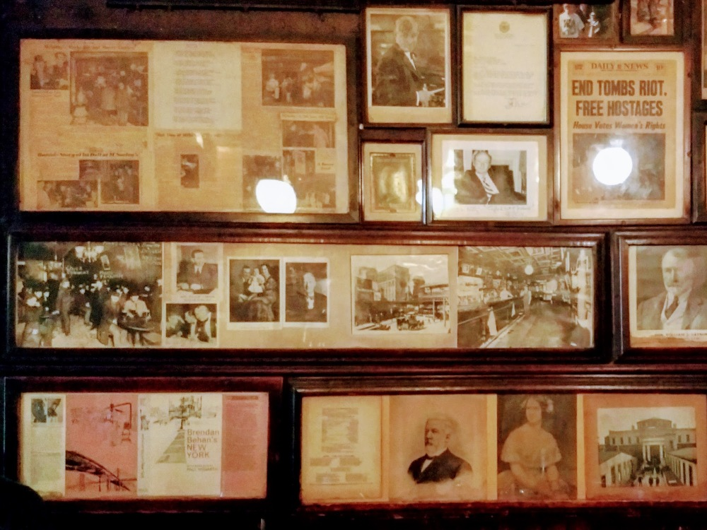 Memorabilia on the walls of McSorley's Old Ale House