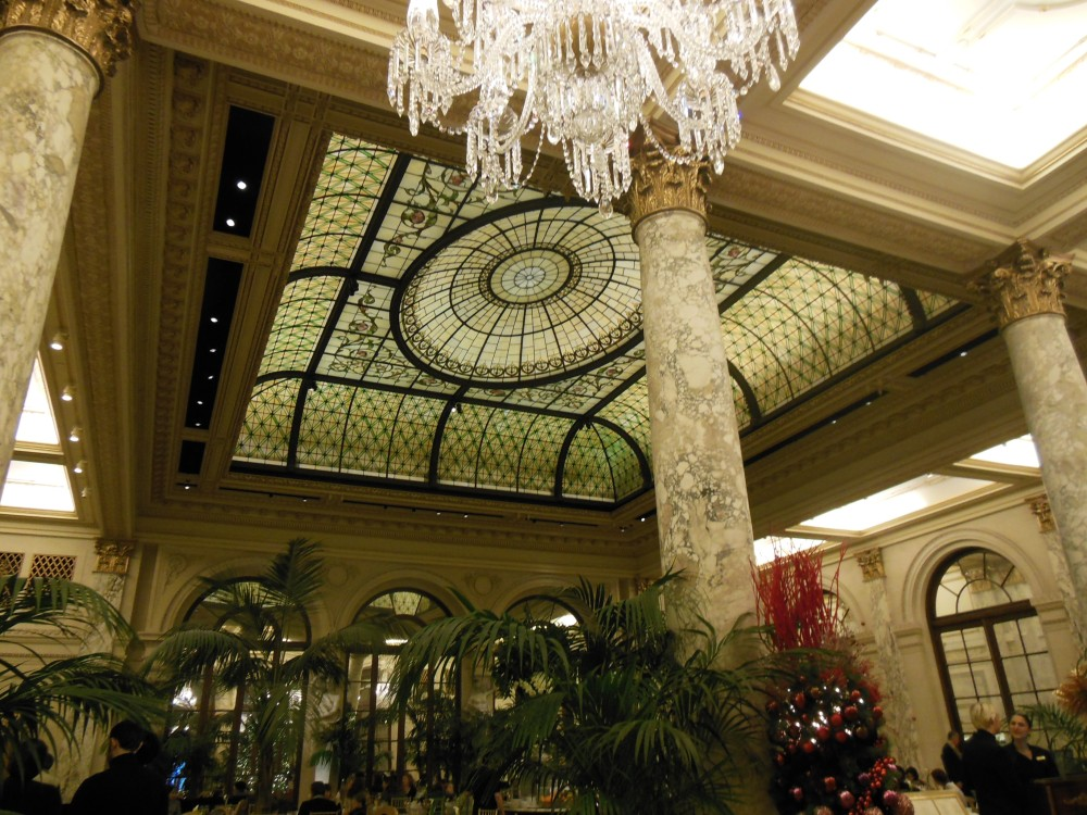 A view to The Palm Court inside The Plaza