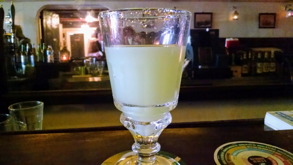 "Absinthe, AKA ""the green fairy"" at William Barnacle Tavern"