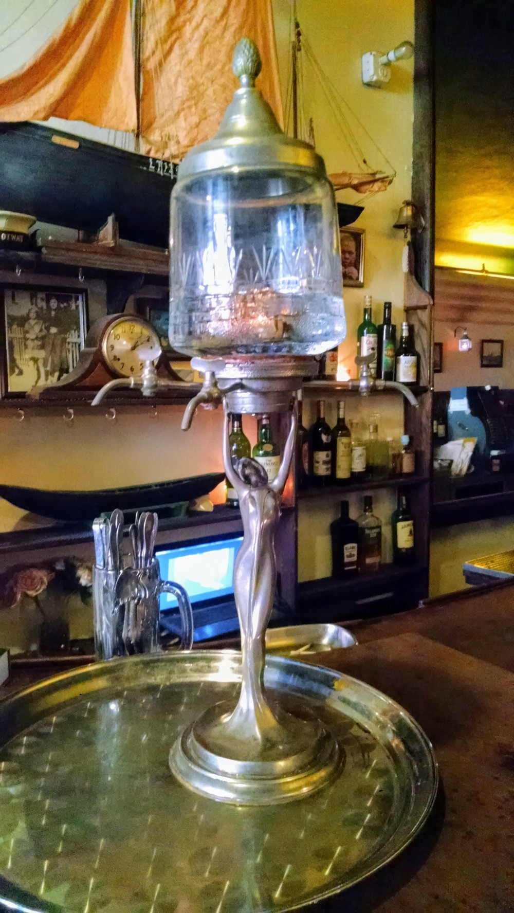 This device is used to prepare absinthe in William Barnacle Tavern