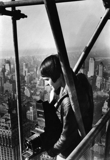 Margaret Bourke-White on the Chrysler BuildingbyOscar Graubner
