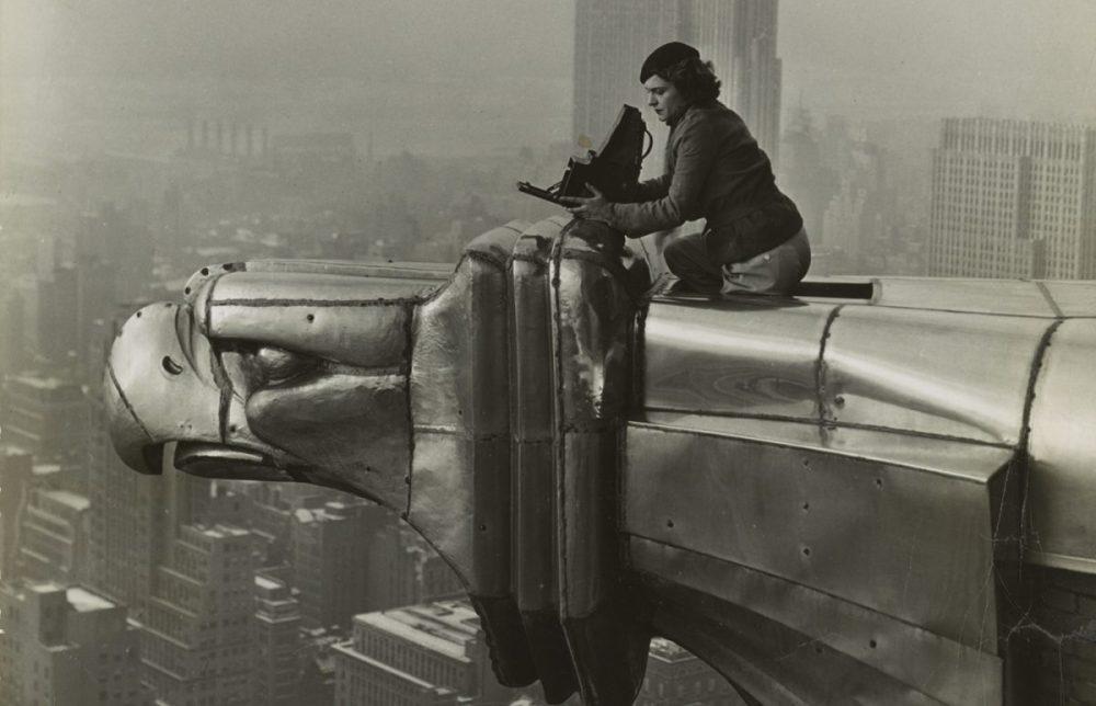 Margaret Bourke-White atop the Chrysler Building. c. 1930
