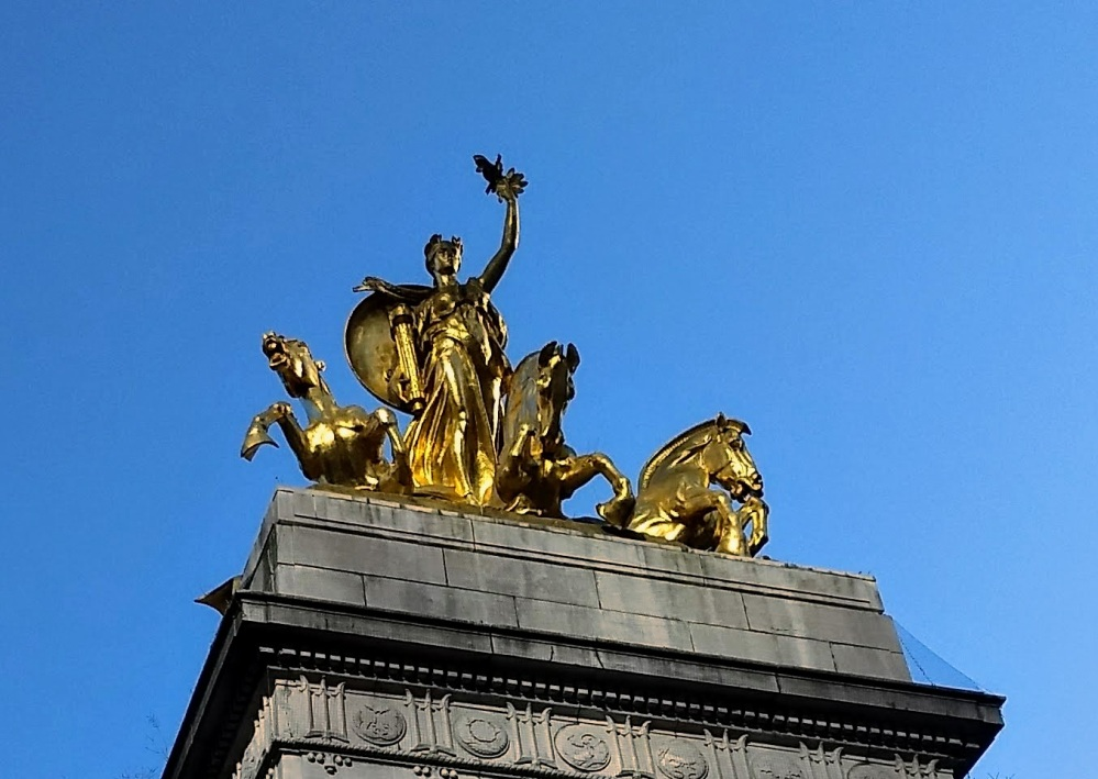 """Columbia Triumphant"" by Attilio Piccirilli (USS Maine National Monument, Central Park)"