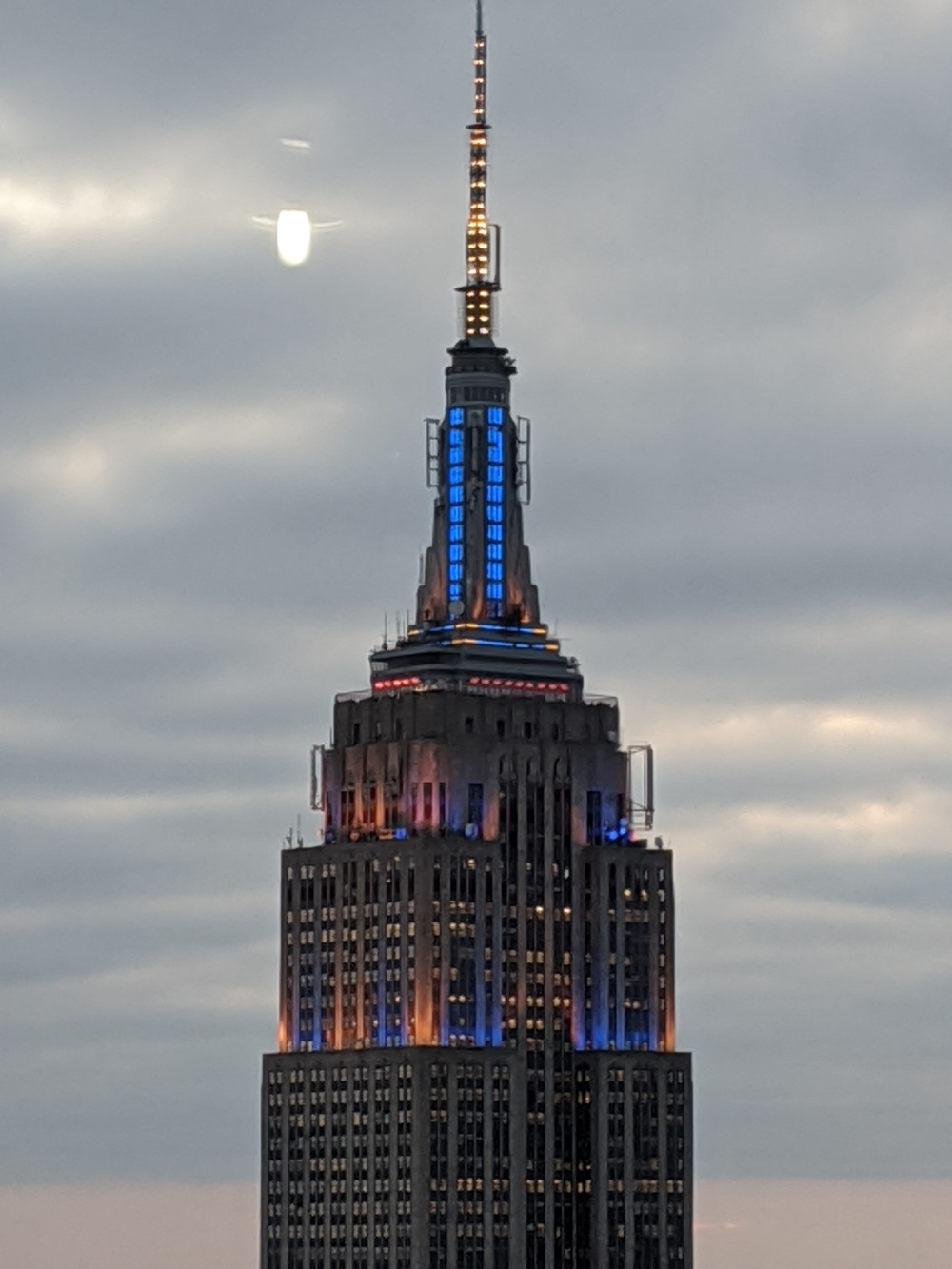 The Empire State in the evening