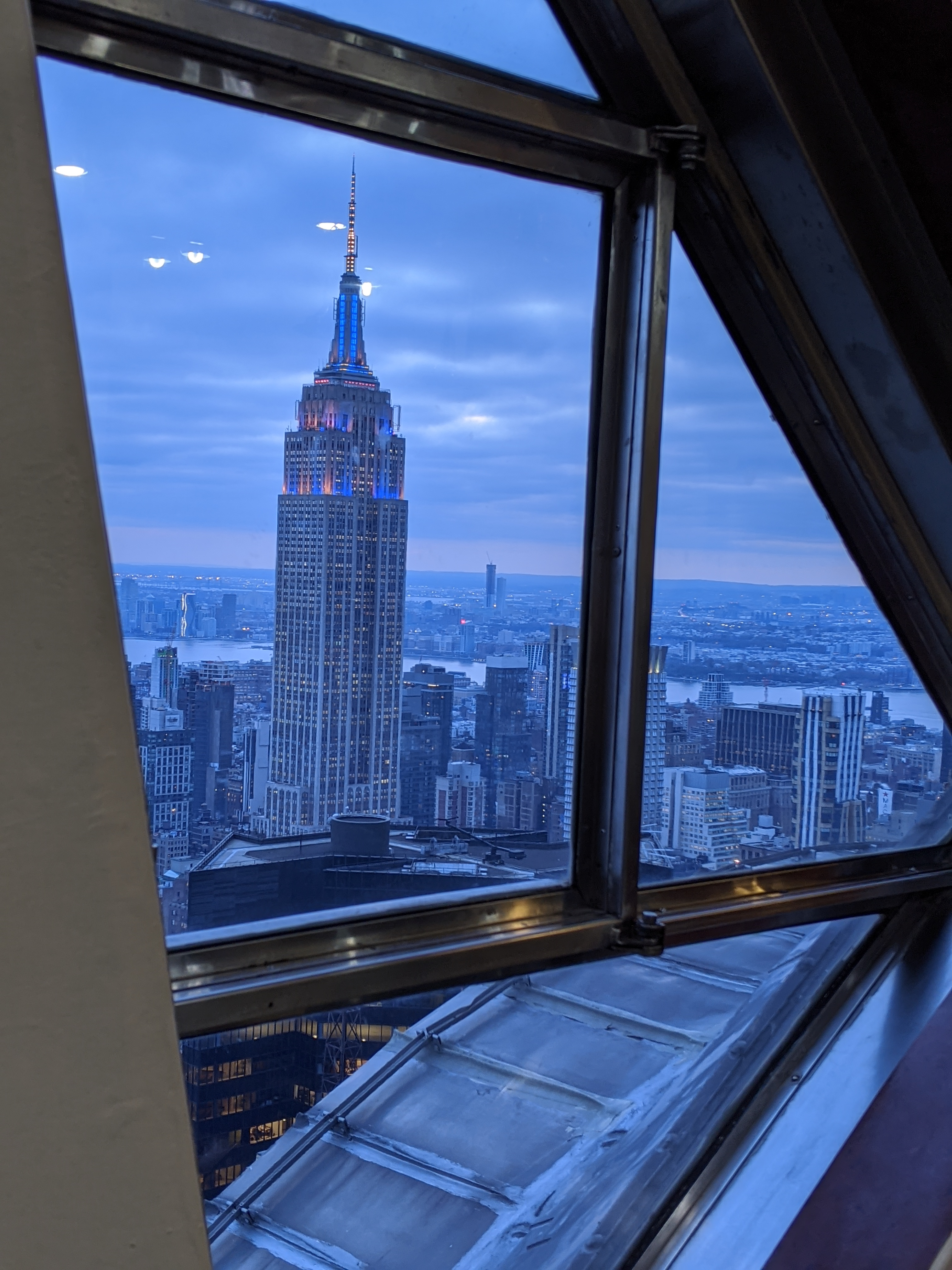 ESB from the Chrysler Tower at dusk