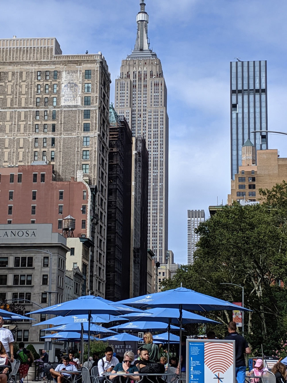The ESB from Madison Square Park