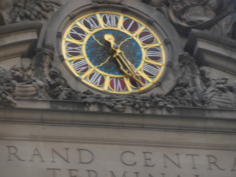 Tiffany clock over Grand Central entrance