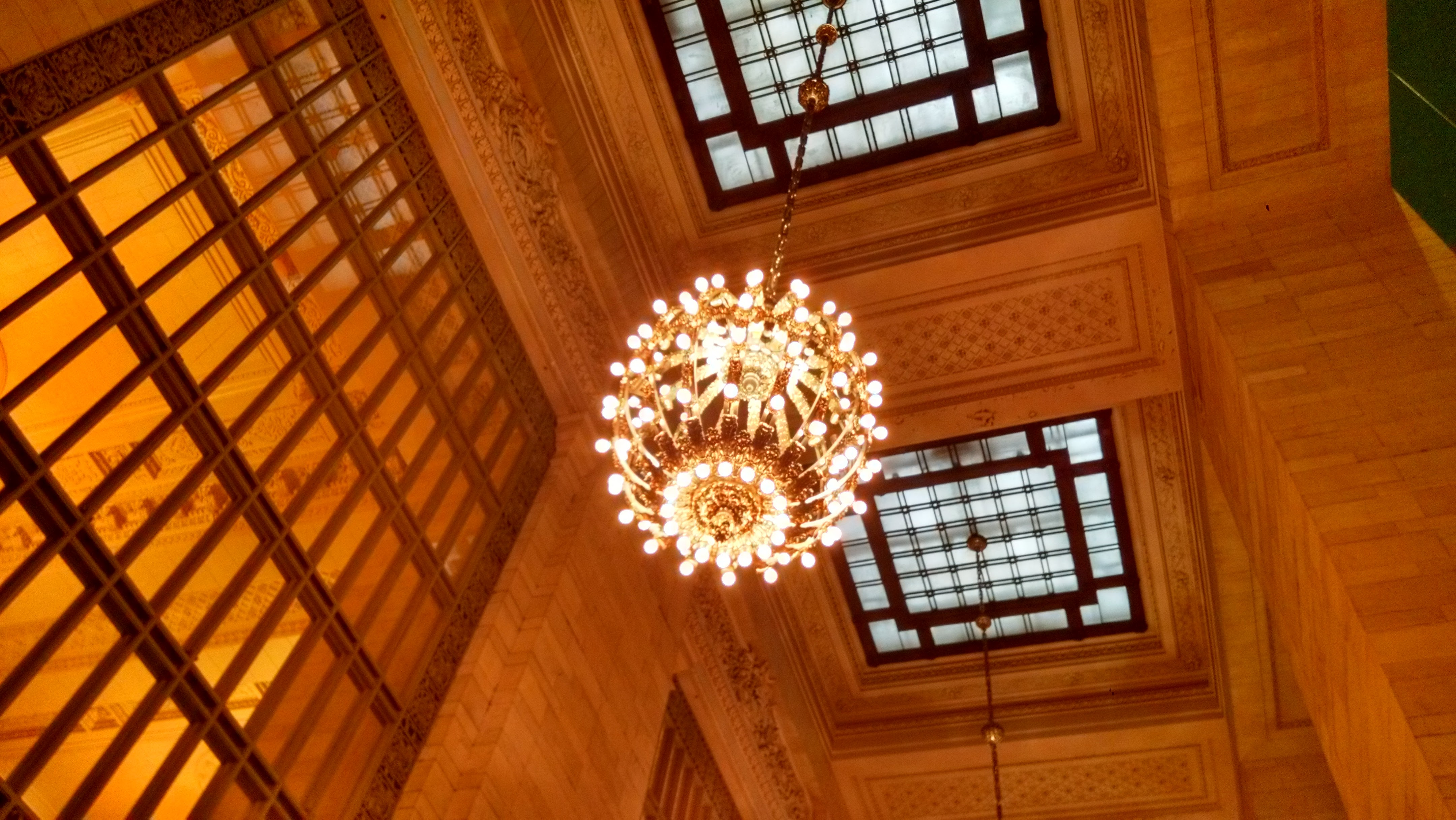 A chandelier in Grand Central