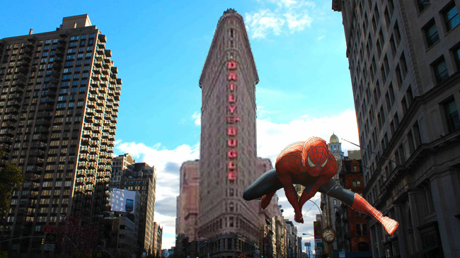 The headquarters of the Daily Bugle In the Spider-Man movies