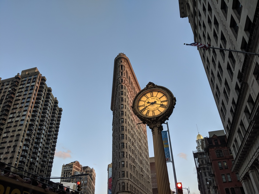 The Flatiron and 5th Ave Clock