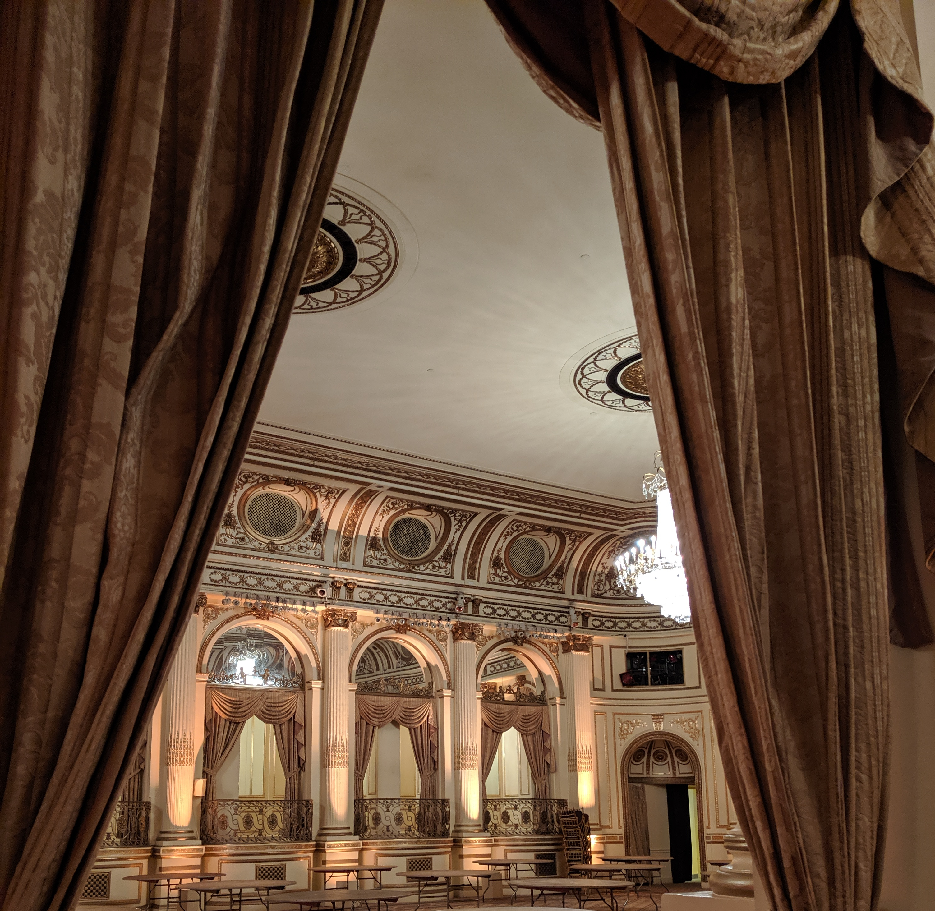 A view to the ballroom at the Plaza