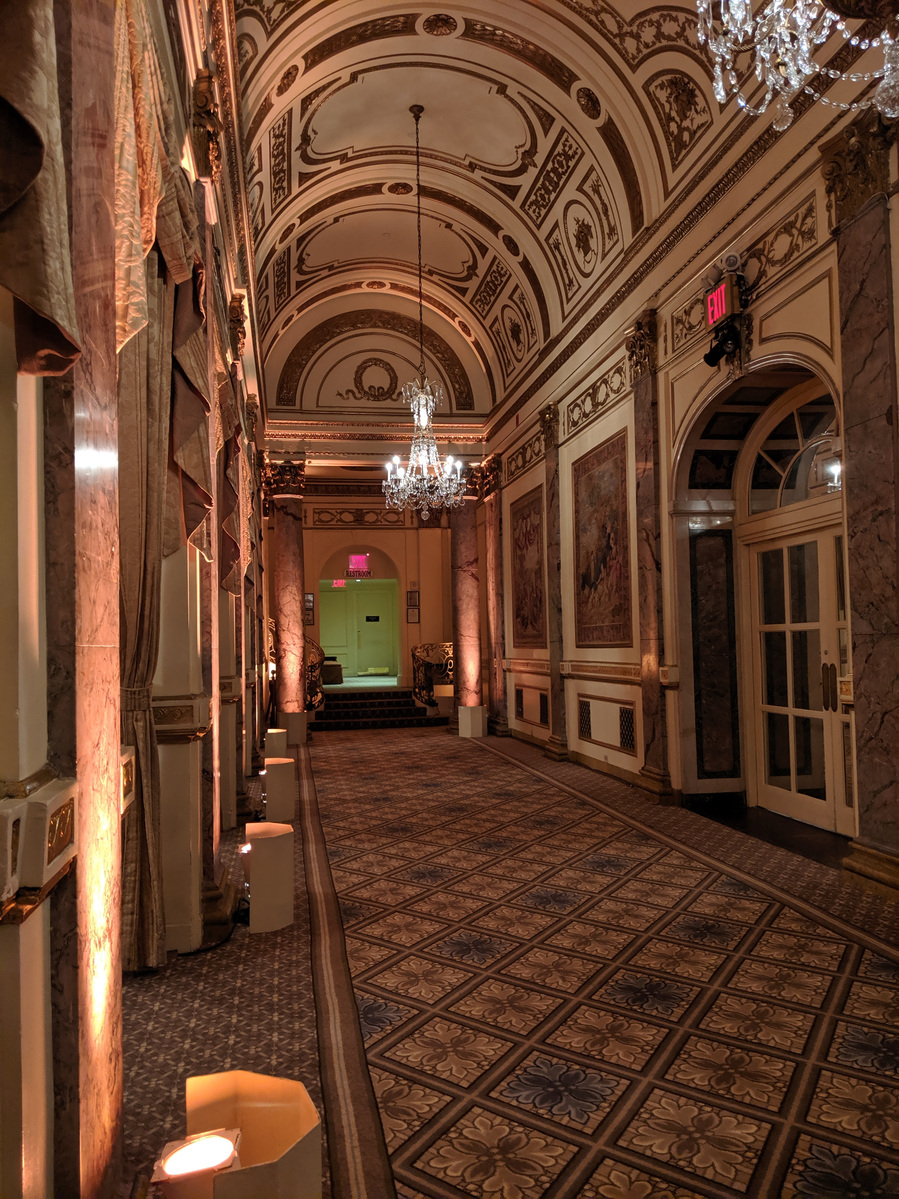 An entrance to the ballroom at the Plaza