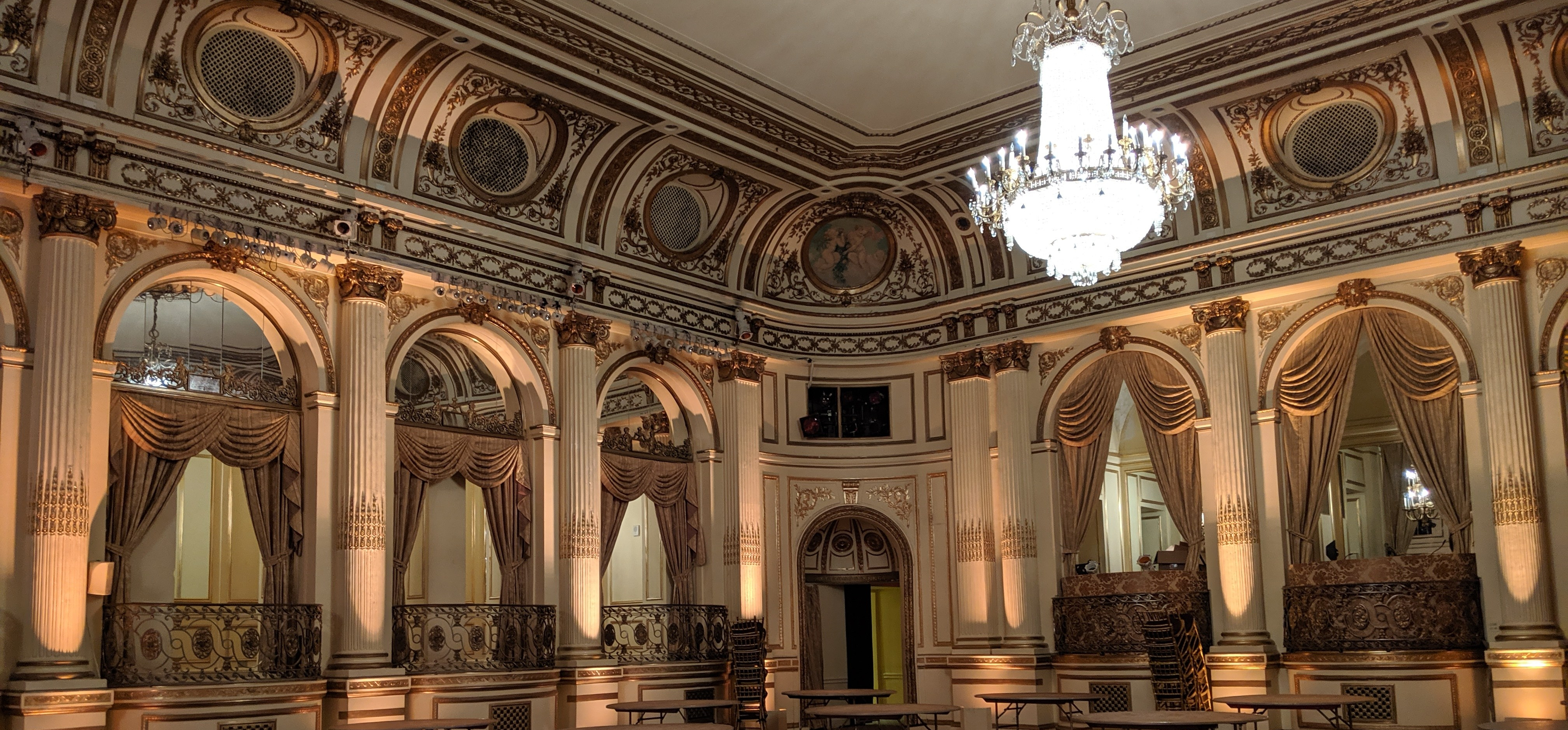 The famed ballroom at the Plaza