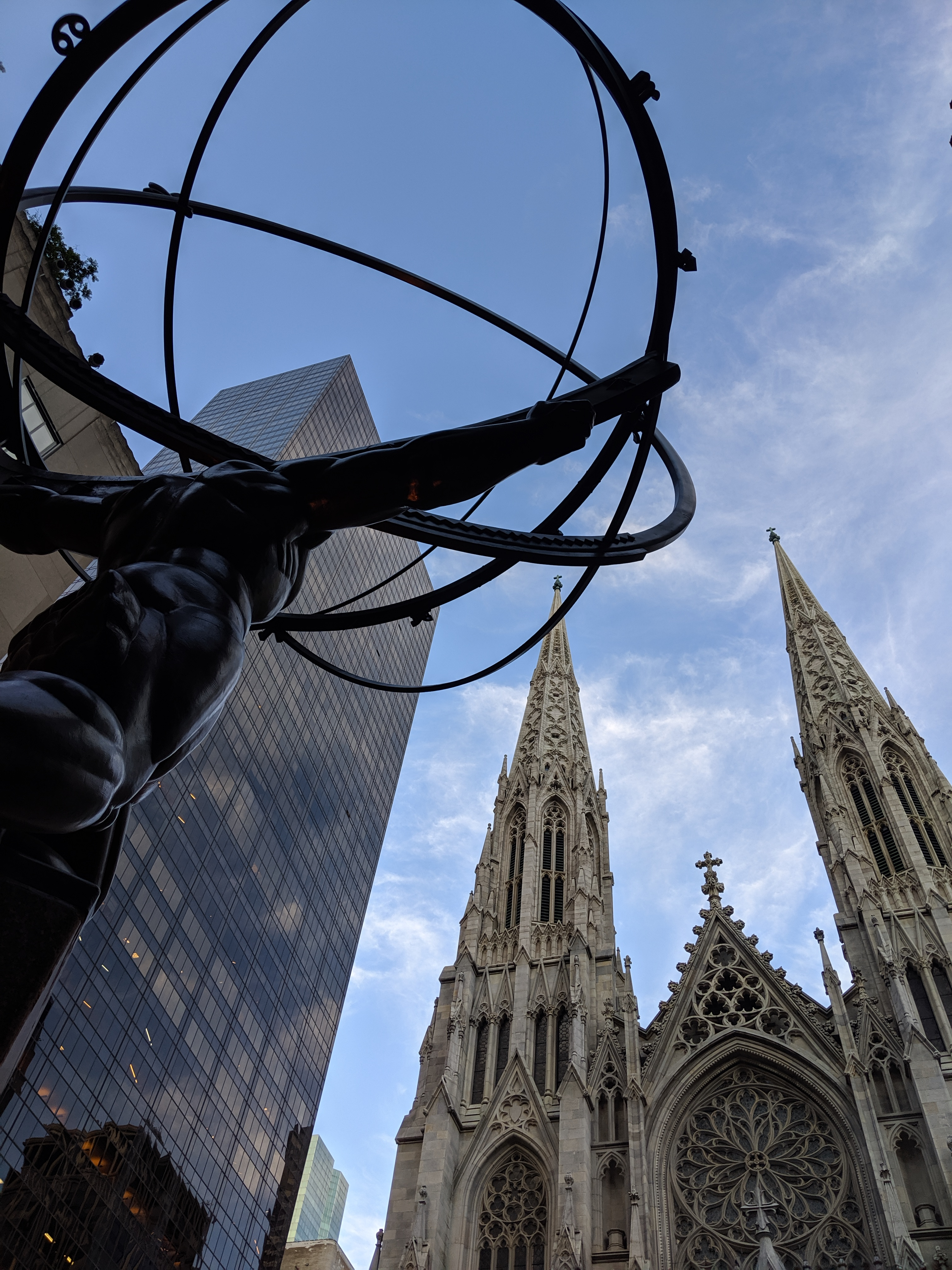 St. Patrick's Cathedral and Lee Lawrie's Atlas