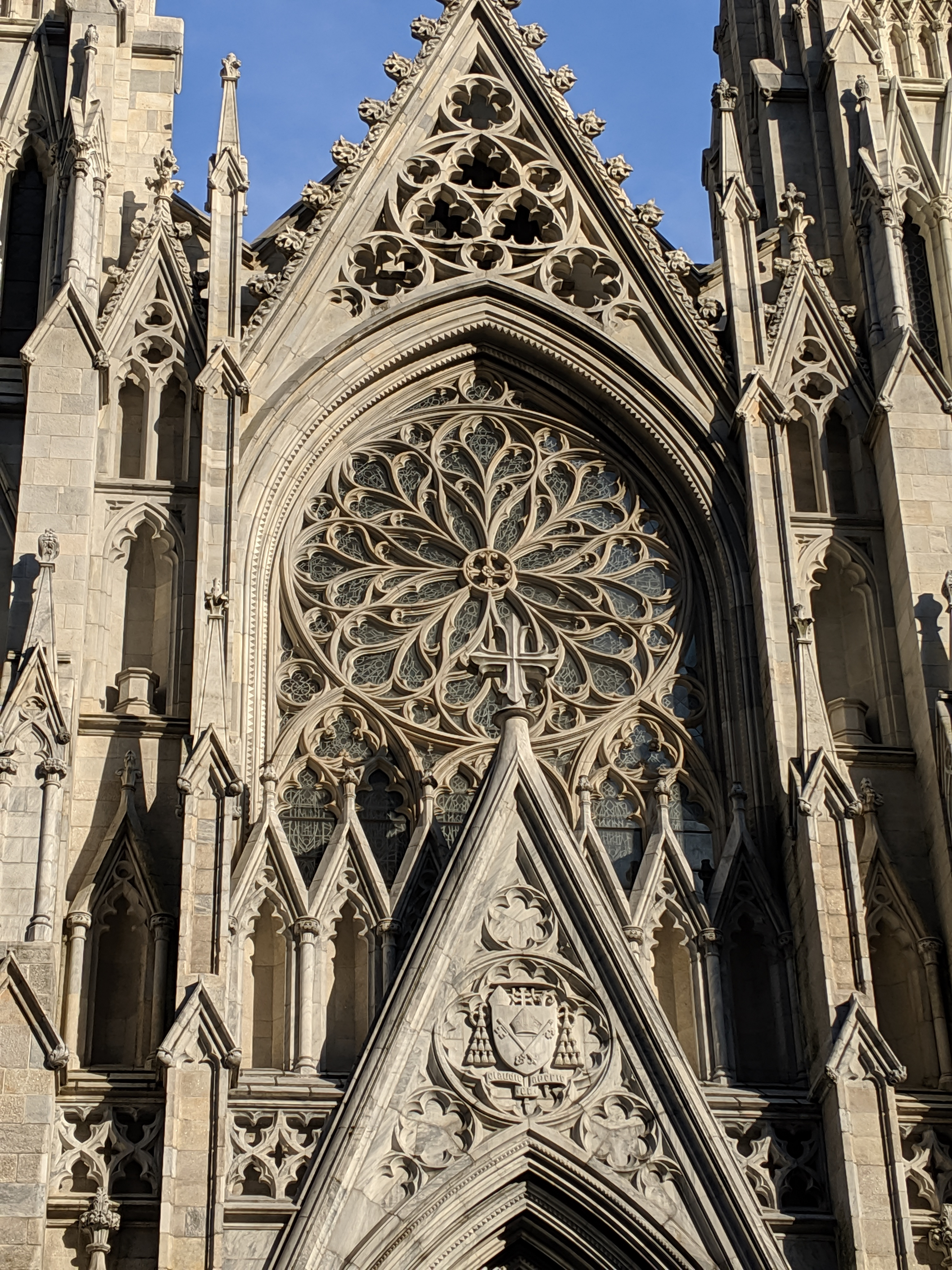 The facade of St. Patrick's Cathedral