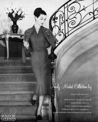 Bergdorf Goodman 1957 Source: my vintage vogue
