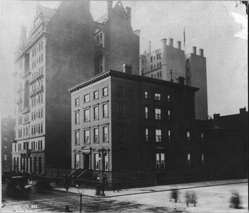The Waldorf Hotel next to Mrs. Astor's mansion, 1893, photo Mina Rees Library, The Graduate Center, CUNY