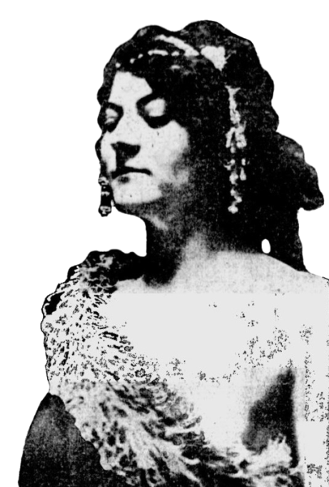 "Doris Doscher, billed as ""The Girl on the Quarter."" By some accounts she was the woman who modeled for Hermon MacNeil's design for the Standing Liberty quarter"
