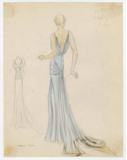 Bergdorf Goodman sketches : Kelly 1930s