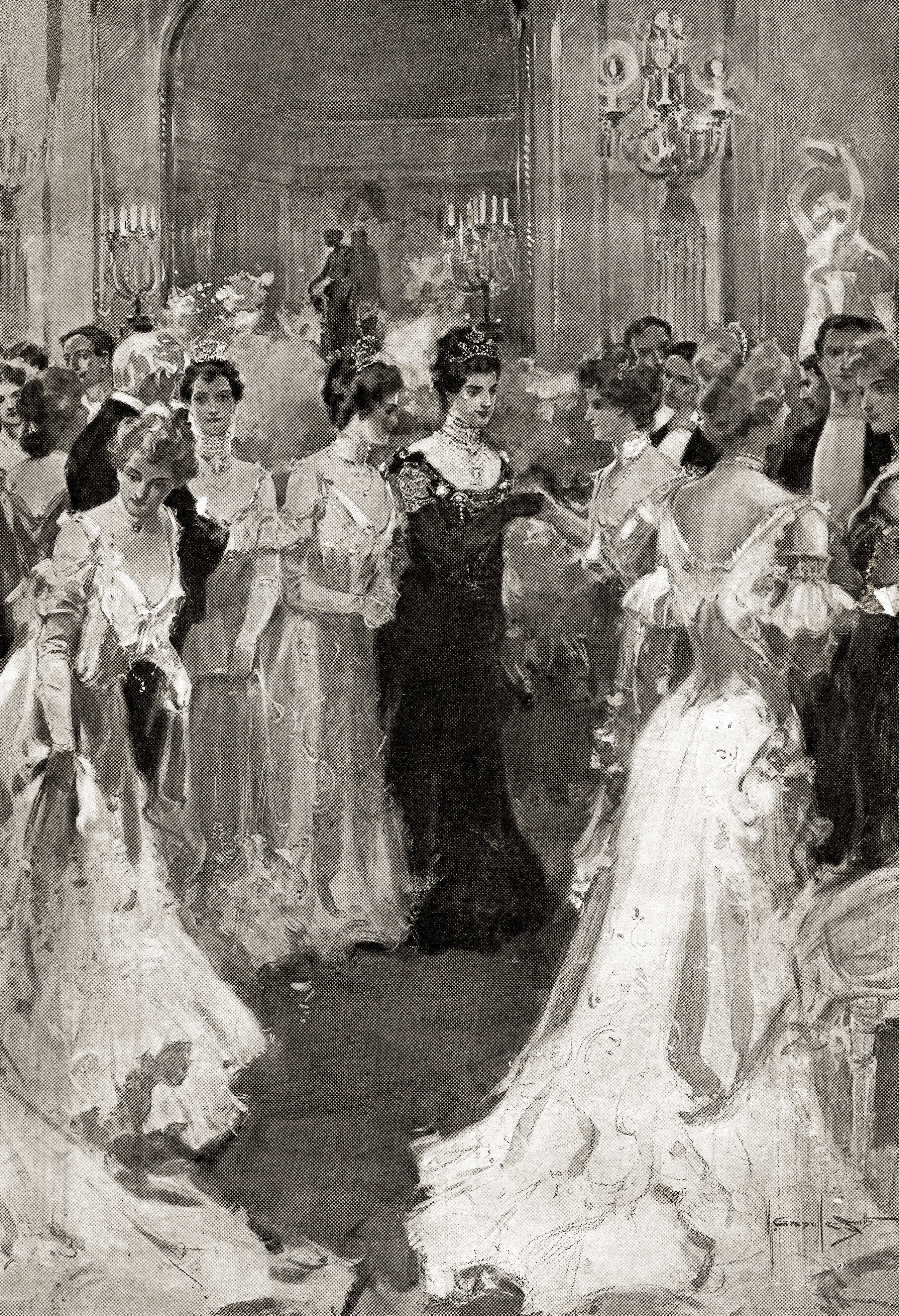Mrs Astor Greeting Guests at her Ball