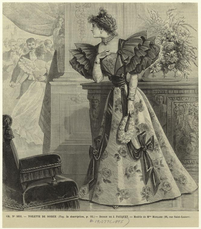 Toilette De Soirée. By Pauquet, Jean Louis Charles, 1895 From Wallach Division Picture Collection