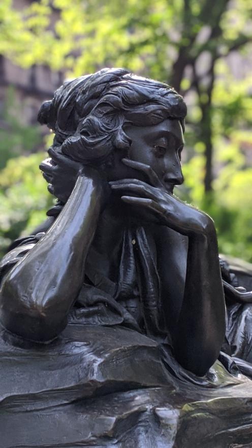 Memory, The Isidor and Ida Straus Memorial. Close up