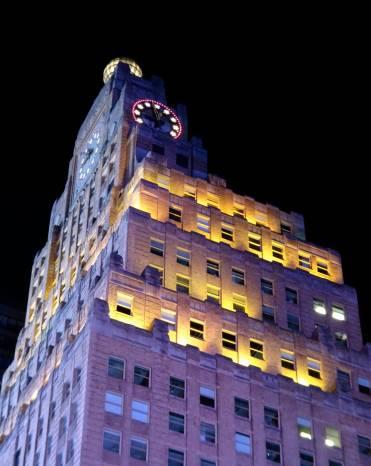 Paramount Building at night Photo credit: Jack Donaghy