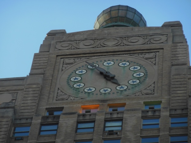 Paramount Building Clock with the stars from the Paramount Pictures logo