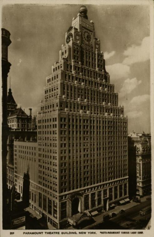 Paramount Building, New York Black and White Photograph Avery Architectural & Fine Arts Library