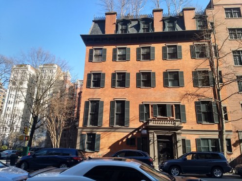 Stuyvesant Fish House facade facing Irving Place