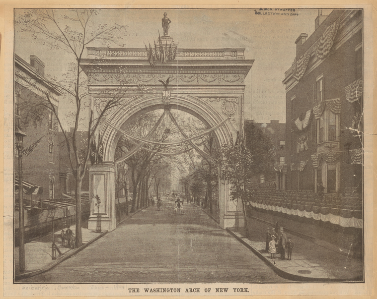 The Washington Arch of New York