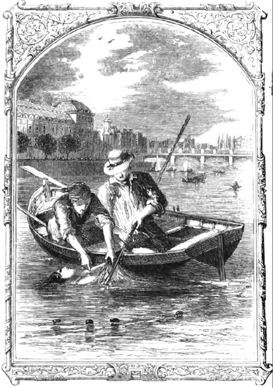 Finding the body of Mary Rogers. Edgar Allan Poe moved the story from Hoboken to Paris.