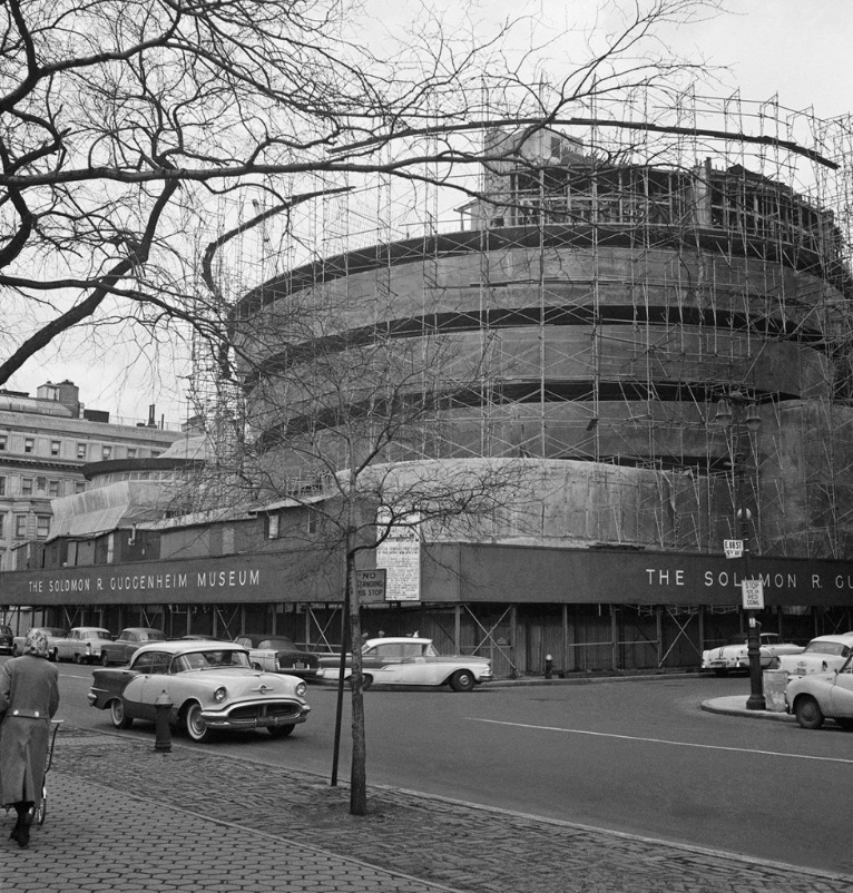 The Solomon R. Guggenheim Museum under construction, ca. 1958